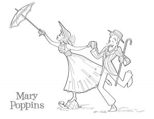 Joli Coloriage Mary Poppins