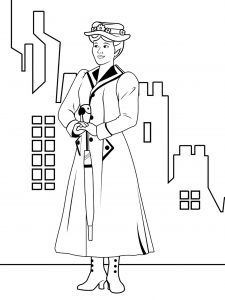 Coloriage à imprimer de Mary Poppins