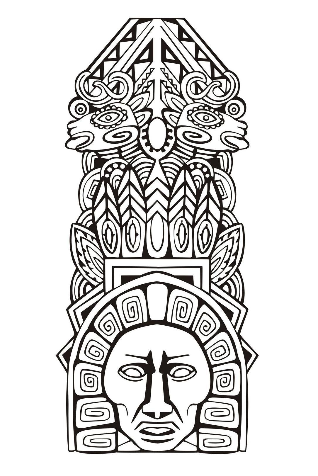 Totem inspiration inca maya azteque 5
