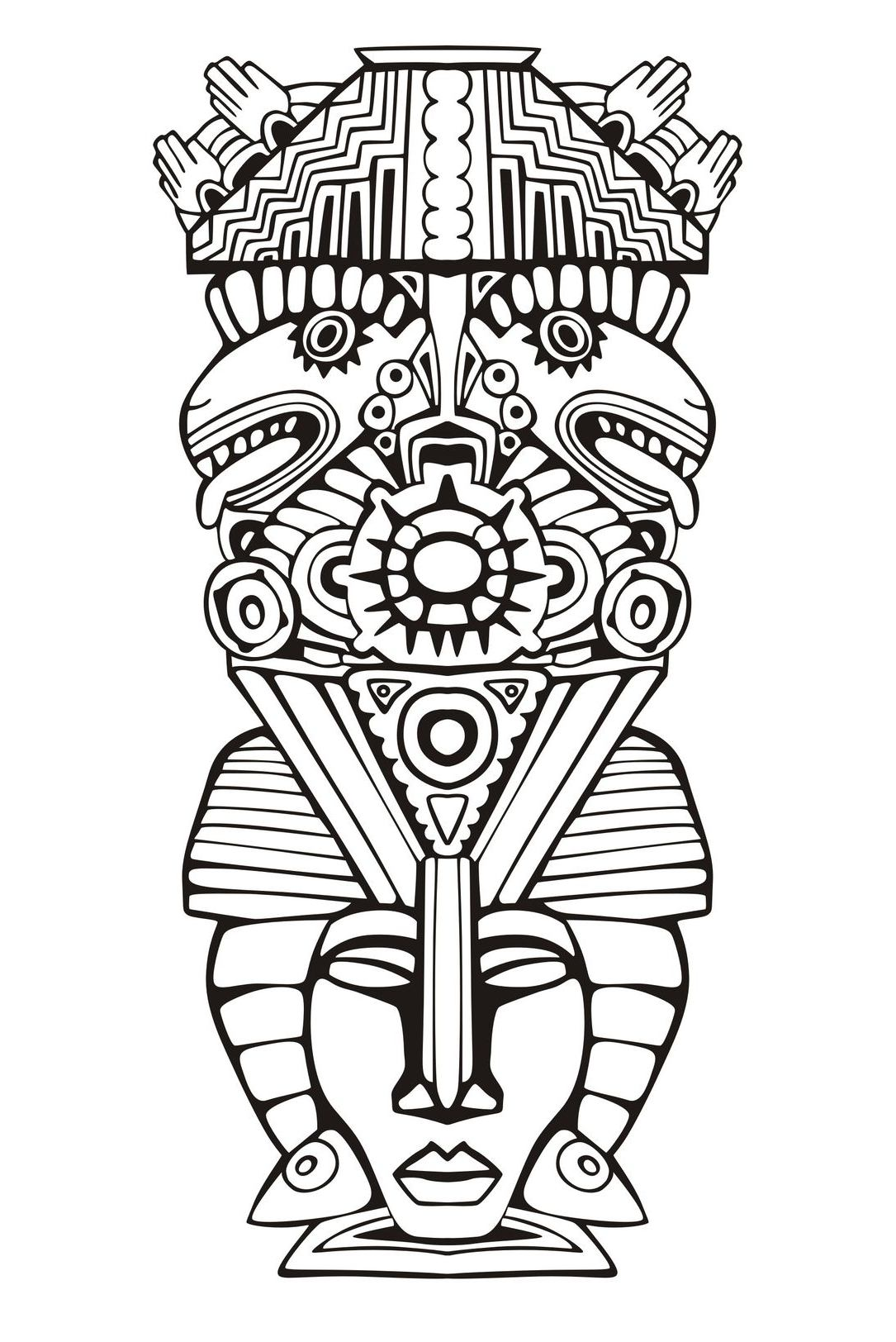 mesoamerican coloring pages - photo#20