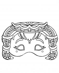 Masque de Carnaval à décorer