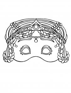 Masque de Carnaval à colorier