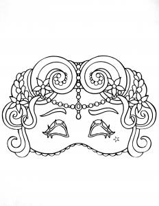 Elégant masque de Carnaval