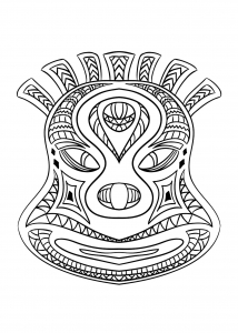 coloriage-masque-africain-2 free to print