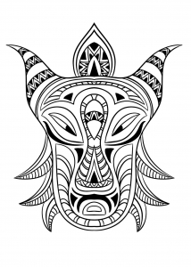 coloriage-masque-africain-3 free to print