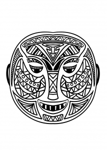 Coloriage Masque Africain