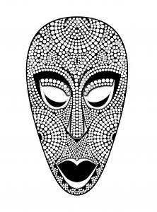 coloriage-masque-africain free to print