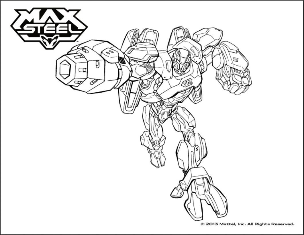 Incroyable coloriage de Max Steel pour enfants