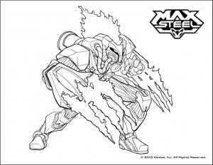 Coloriage de Max Steel à imprimer pour enfants