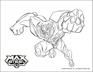 Coloriage max steel 2
