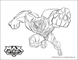 Coloriage de Max Steel à imprimer