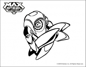 Coloriage max steel 3