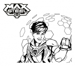 Coloriage de Max Steel à telecharger gratuitement