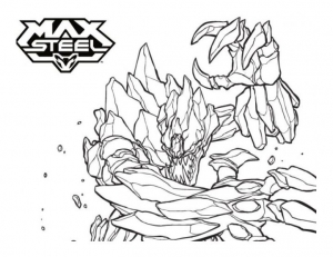 Coloriage max steel 8