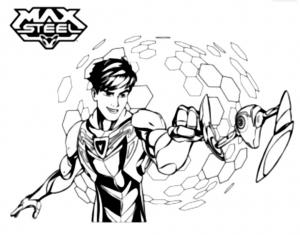coloriage-max-steel-heros free to print