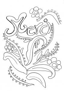 coloriage-merci free to print