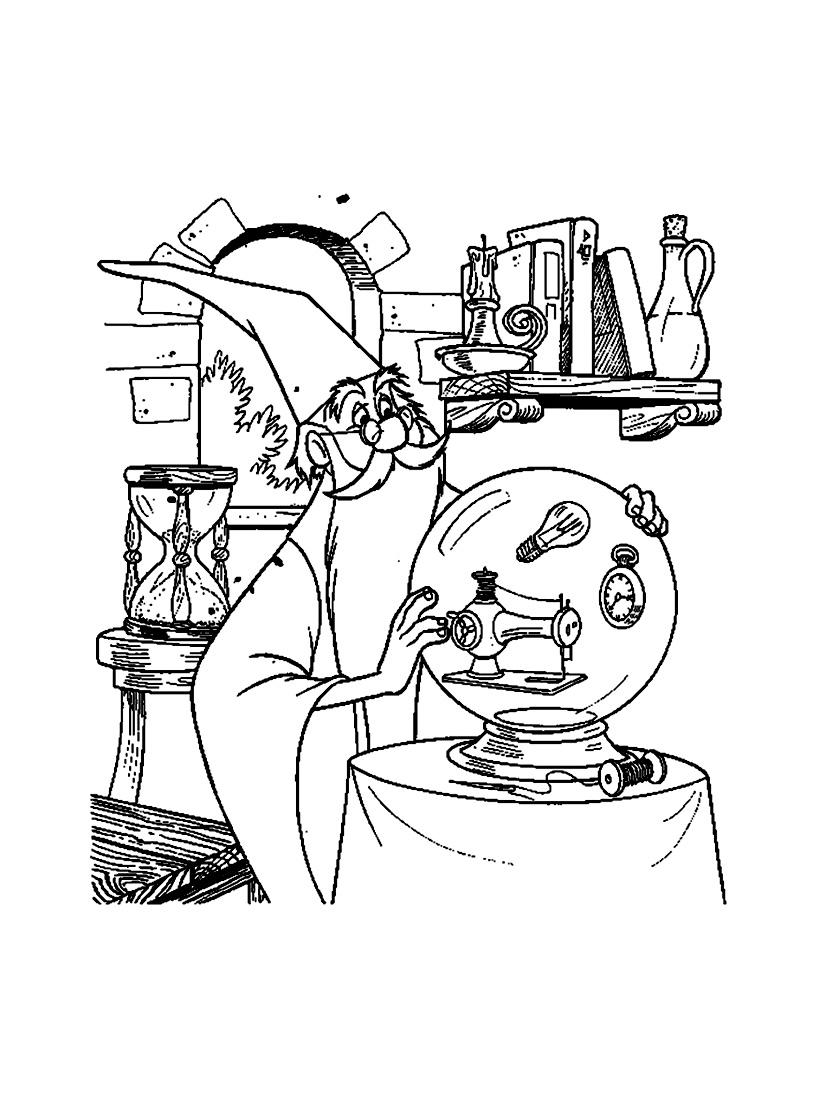 Image de Merlin l'enchanteur à imprimer et à colorier