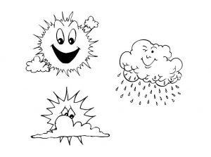 3 symboles météo à colorier