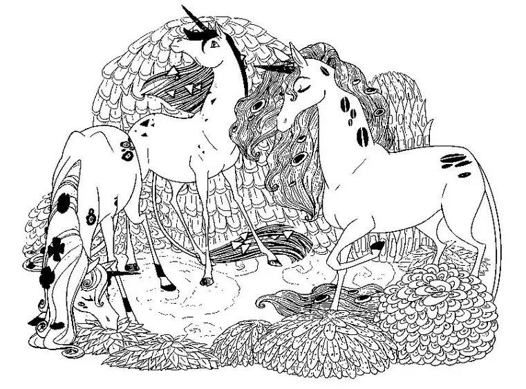 image=mia et moi coloriage mia et moi 3 licornes 1