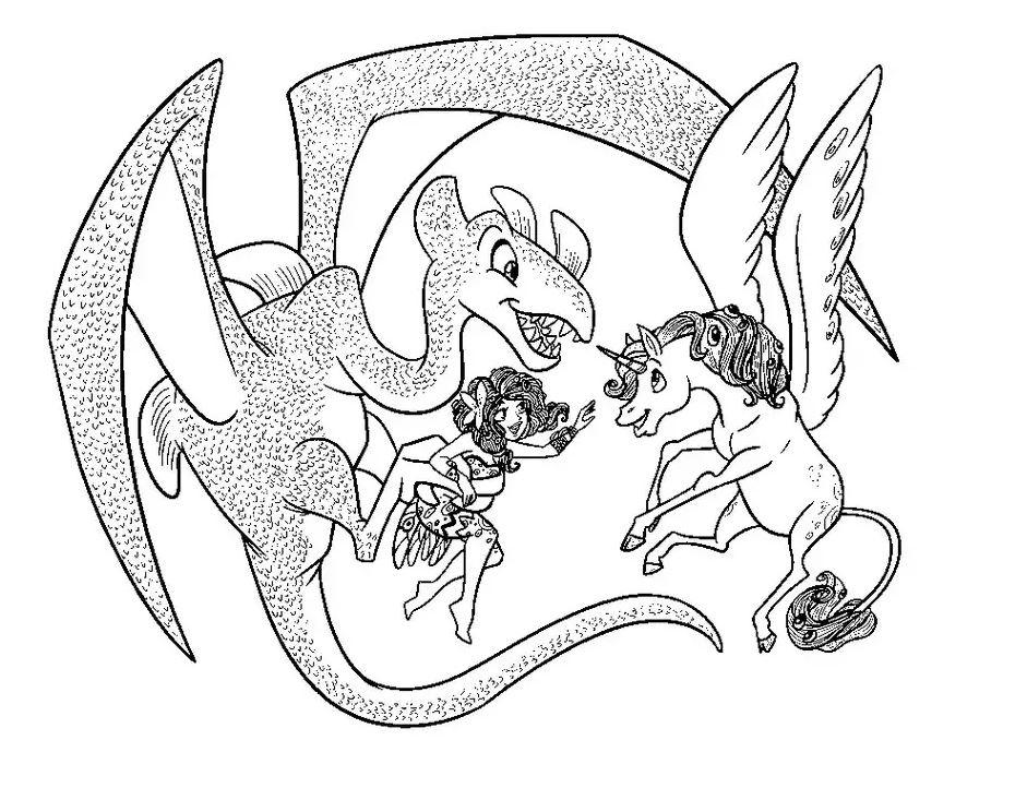 Mia Et Moi Dragon Et Licorne Coloriage Mia Et Moi Coloriages