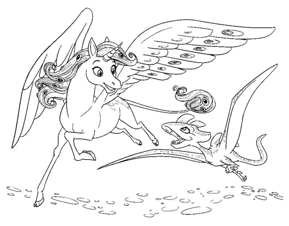 image=mia et moi coloriage mia et moi onchao et petit dragon 1