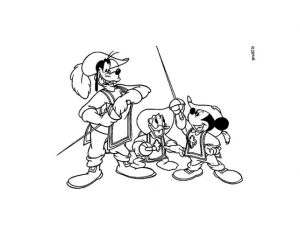 coloriage-mickey-3-mousquetaires free to print