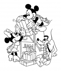 coloriage-mickey-minnie-pluto free to print