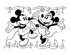 Coloriage mickey minnie11