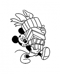 coloriage-mickey-cadeaux free to print