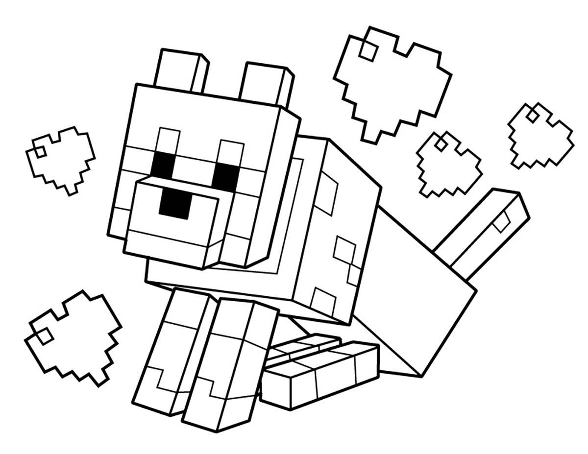 Enfant minecraft 2 coloriage minecraft coloriages pour - Enfants coloriage ...