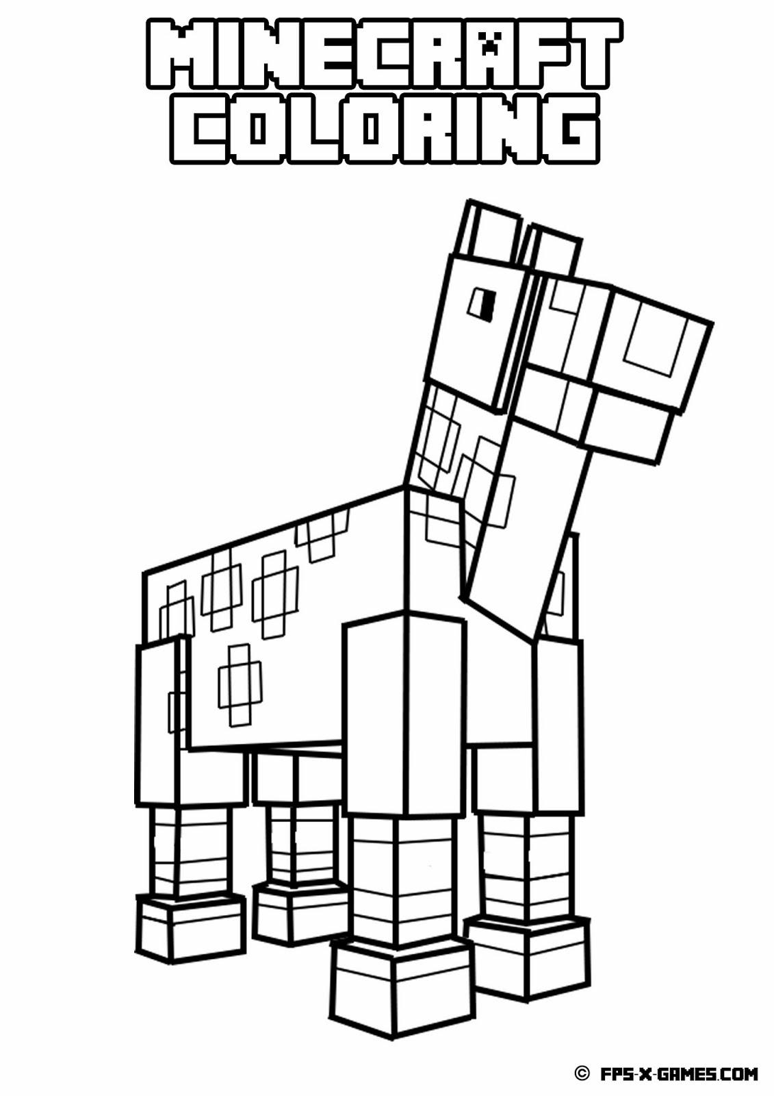 Dessin de Minecraft gratuit à télécharger et colorier ...