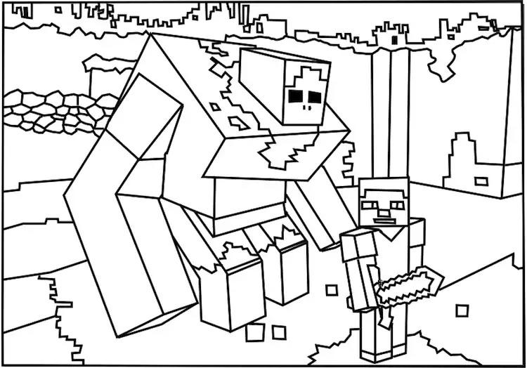 Gratuit A Imprimer Minecraft 2 Coloriage Minecraft Coloriages
