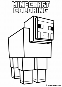 coloriage enfant minecraft 10