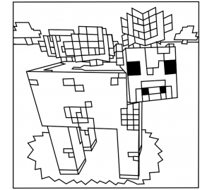 coloriage enfant minecraft 16