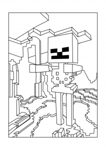 coloriage enfant minecraft 17