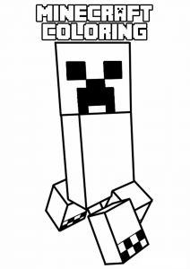 coloriage enfant minecraft 9