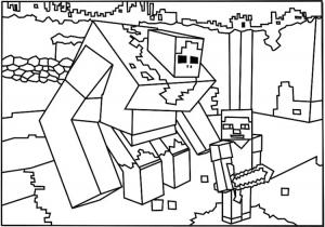 Coloriage gratuit a imprimer minecraft 2