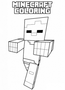 coloriage-gratuit-a-imprimer-minecraft-3 free to print