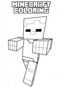 Coloriage de Minecraft à imprimer pour enfants