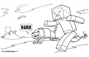 coloriage minecraft 8