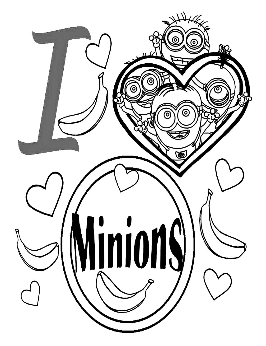 coloriage i love les minions