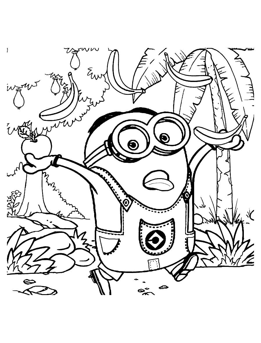Coloriage Minion Anti Stress