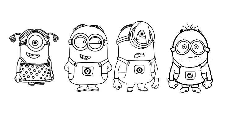 Coloriage de Minions à imprimer pour enfants - Coloriage ...