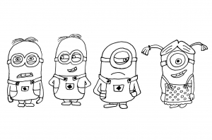 Coloriage exclusif minions