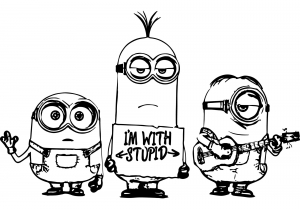 Knowledge Minion Coloring Pages Multiple Minions Coloring Pages Robot