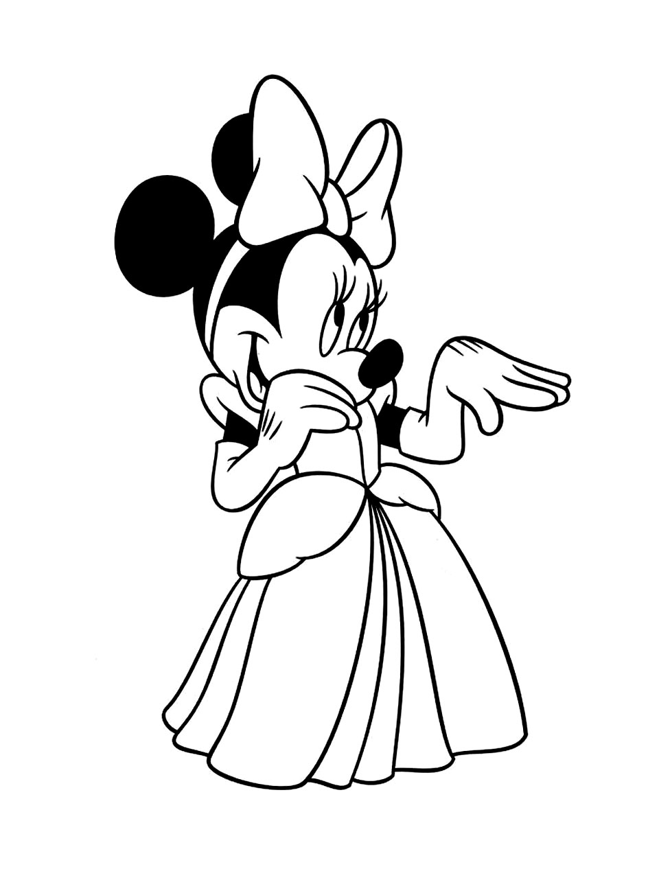 coloriage minnie princesse free to print