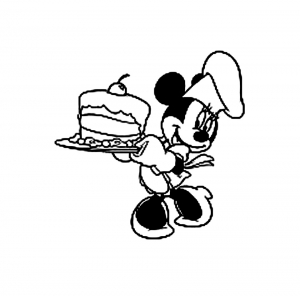 Coloriage minnie gateau2