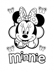Coloriage minnie visage