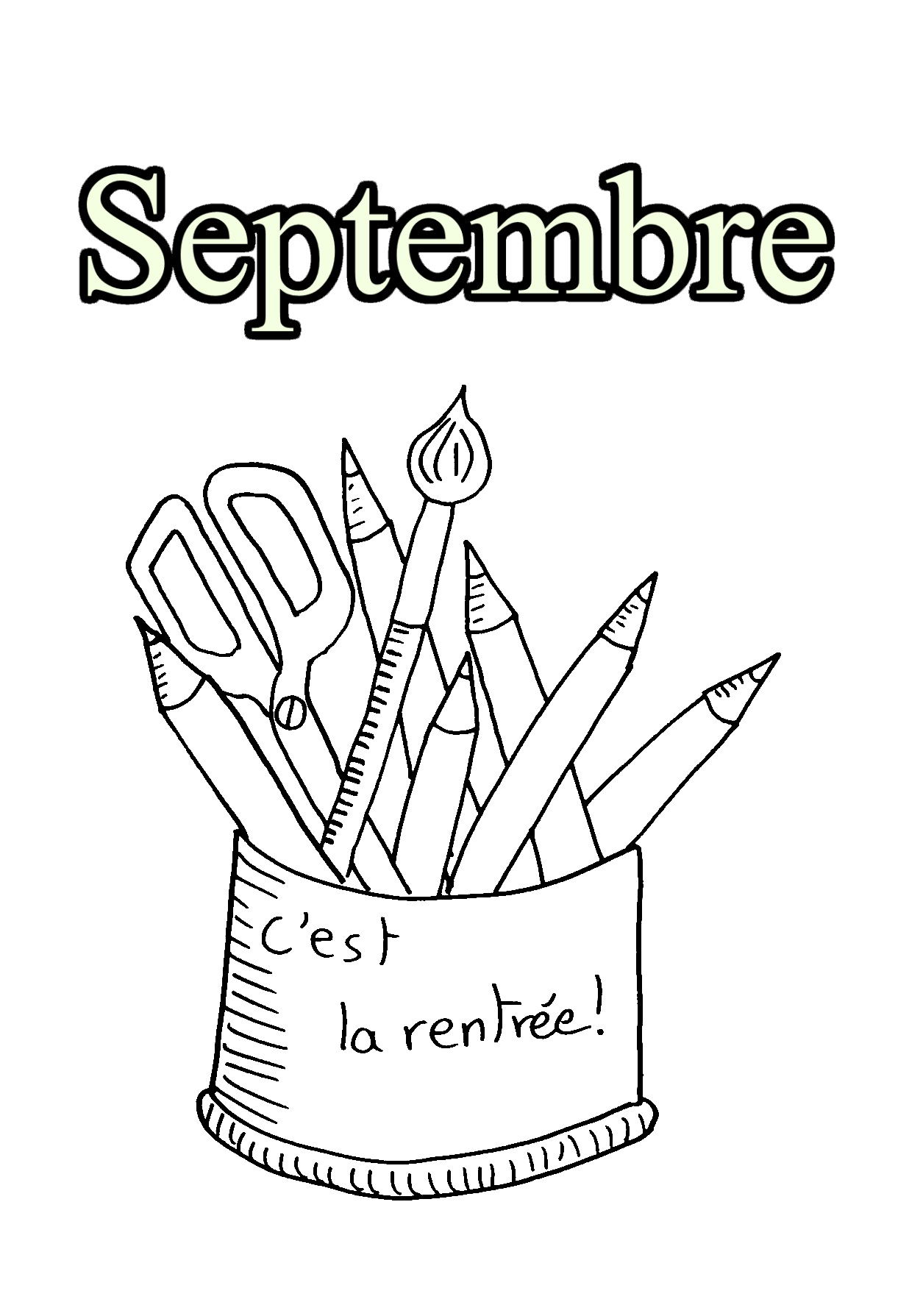 Coloriage Septembre