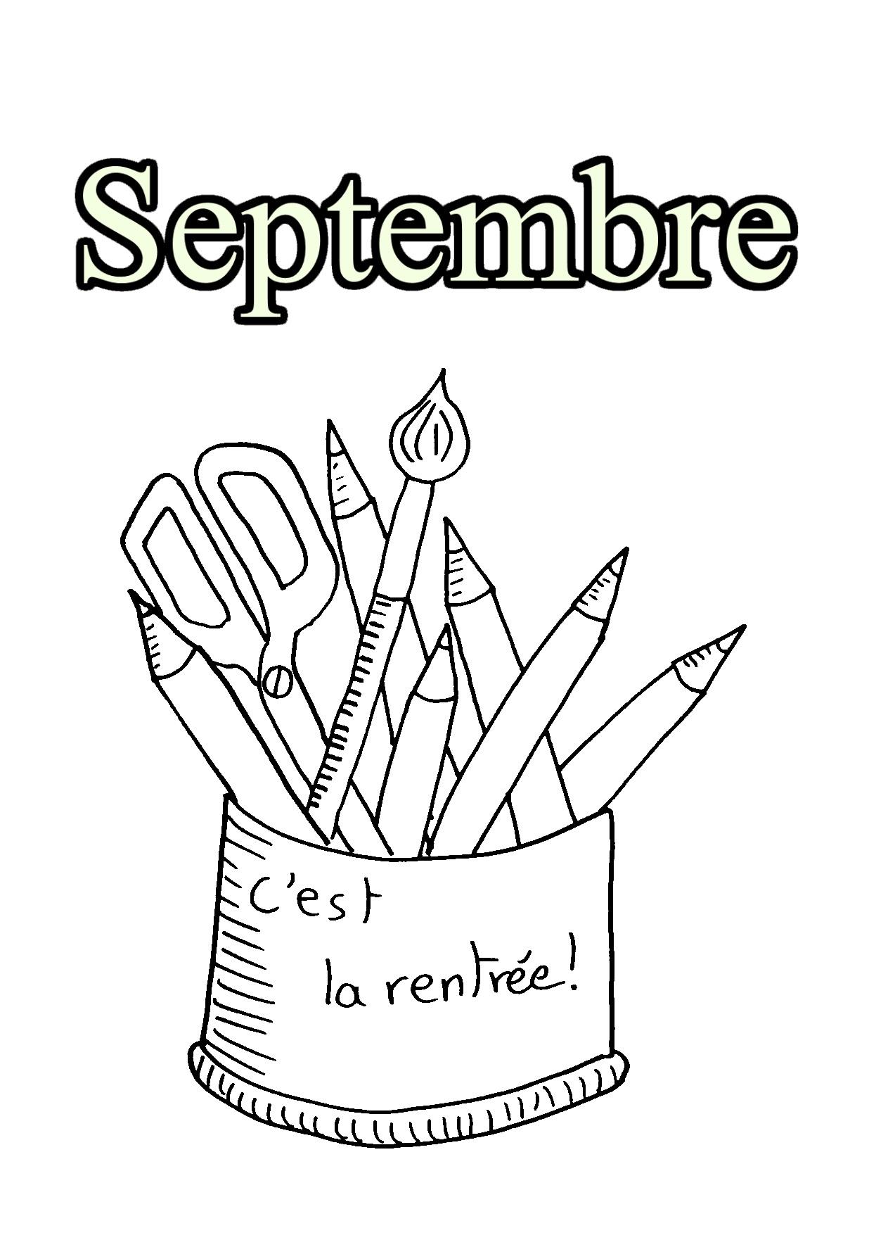 09 septembre coloriage mois de l 39 ann e coloriages pour enfants. Black Bedroom Furniture Sets. Home Design Ideas